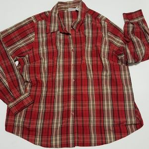 3 for $30 Plaid Button Up Shirt 3X 22 24 Red